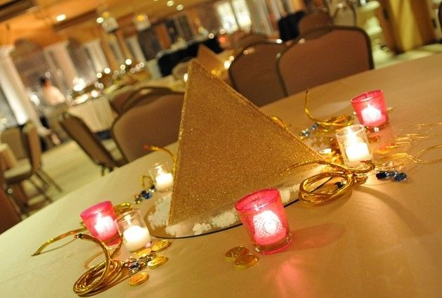 Pyramid Centerpieces Themed Parties Pinterest