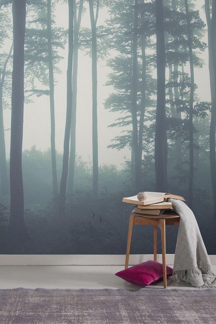 25 best ideas about forest wallpaper on pinterest for Bedroom wallpaper mural