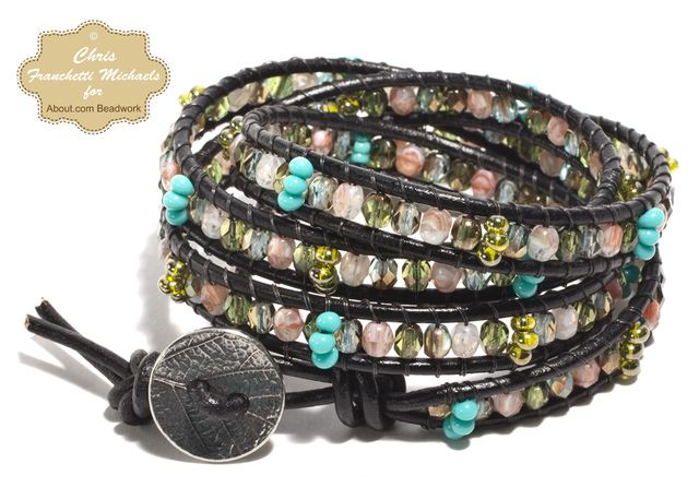 Step-By-Step Tutorial for Making a Leather and Bead Wrap Bracelet: Gather Your Materials