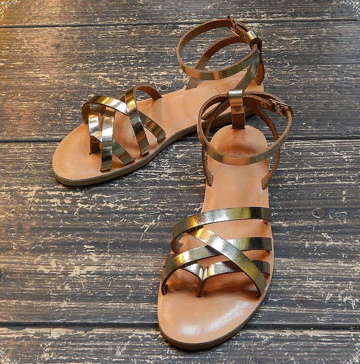 Handmade leather wedding sandal ANTIGONE 1  ...... Romba's leather sandals & bags