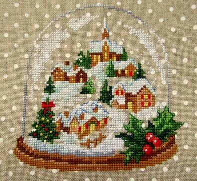 Image result for cross stitch snow globes