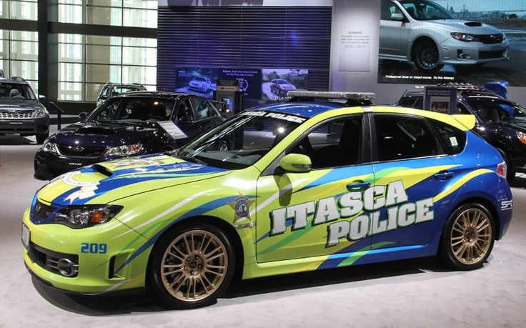 The fastest police cars WRX STI