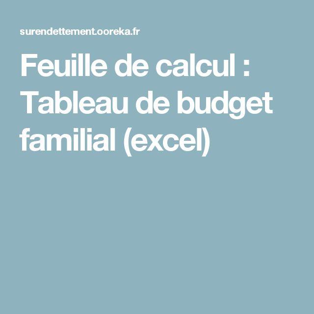 17 meilleures id es propos de feuille de calcul budget - Tableau de remboursement d emprunt excel ...