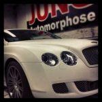 Bentley car-wrapping weiss matt ... sehr edel !!!