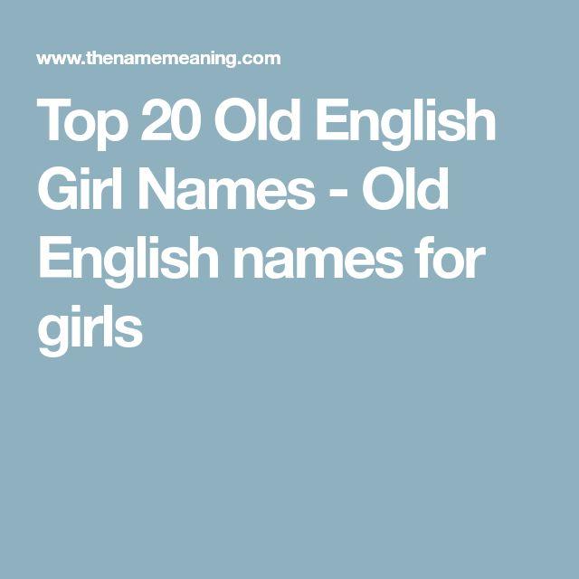 Top 20 Old English Girl Names - Old English names for girls