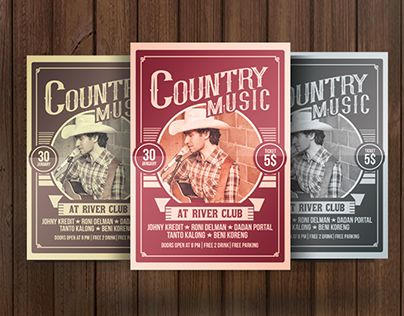 """Check out new work on my @Behance portfolio: """"Country Music Poster Flyer"""" http://be.net/gallery/40108725/Country-Music-Poster-Flyer"""