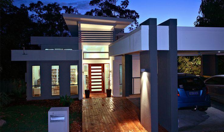 Big Plans Little Budget Soffit B Gone: 32 Best Images About Sloping Lot House Plans On Pinterest