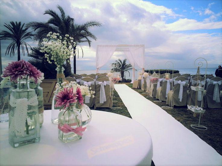 Wedding Blessing set up at Estrella Del Mar Beach club.