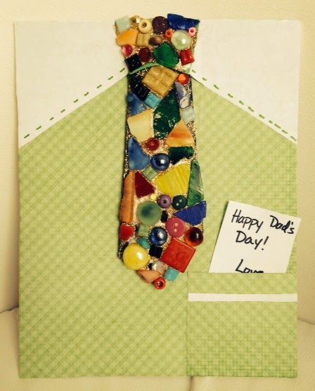 Mosaic Tie with Special Message! for Father's Day | Library Arts