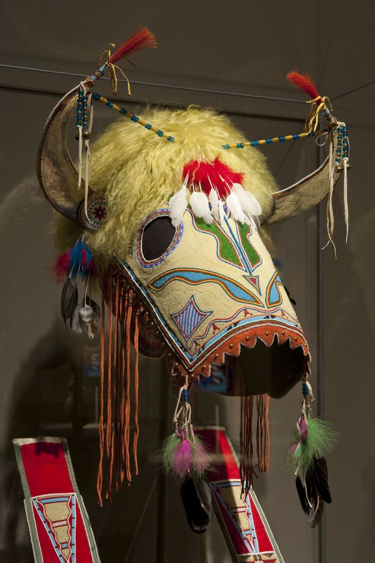 "Kiowa horse mask and martingale, 2010. Oklahoma. Made by Vanessa Jennings (Kiowa, b. 1952). Courtesy of Randall and Teresa Willis via ""A song for the Horse Nation Spotlight Honoring the Horse"""