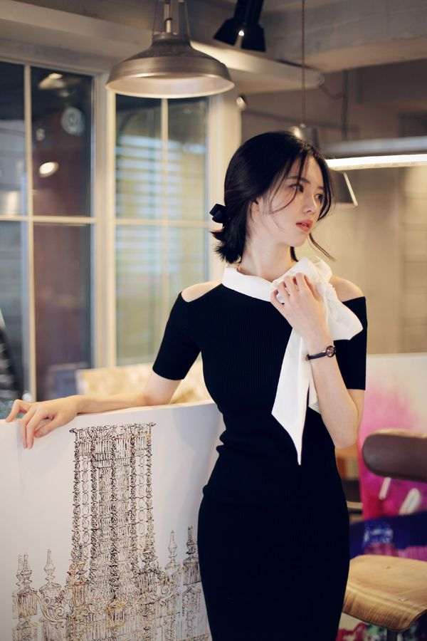 Korean fashion | office dress www.milkcocoa.co.kr
