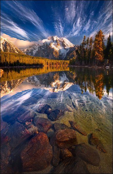 Grand Teton National Park, Leigh Lake Reflection. #Outdoors #Nature