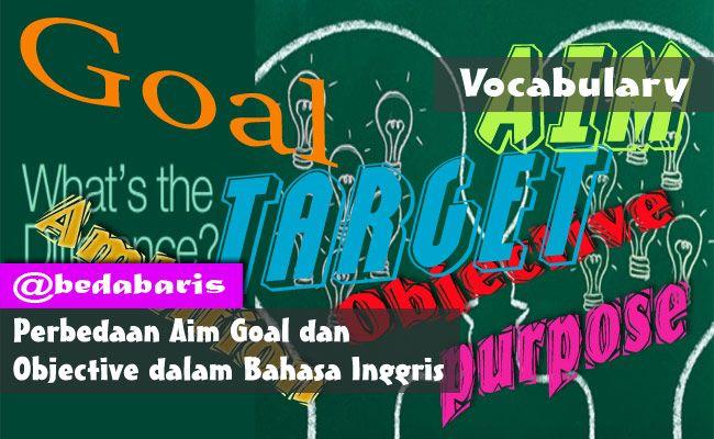 Perbedaan Aim Goal dan Objective dalam Bahasa Inggris  http://www.belajardasarbahasainggris.com/2017/12/07/perbedaan-aim-goal-dan-objective-dalam-bahasa-inggris/