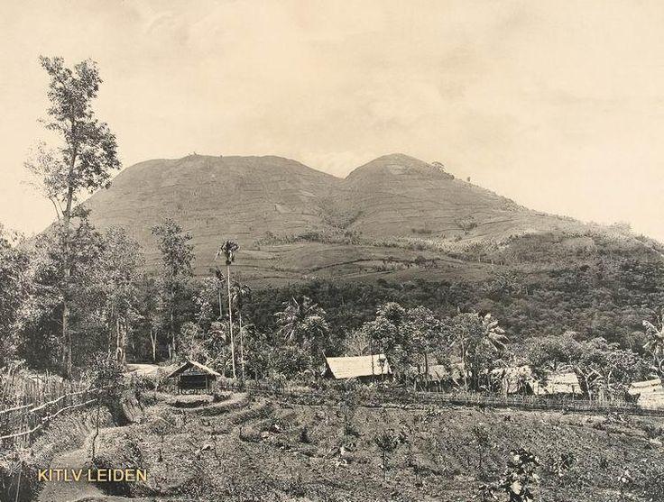 De Kaledong en de Haroeman in de vlakte van heles ten moorden van Garoet . Onderschrift: De Kaledong en de Haroemen in de vlakte van heles.