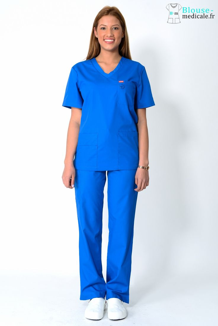 tenue médicale unisexe Orange bleue royal
