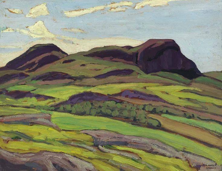 """Interior of Newfoundland (Hills - Newfoundland),"" Lawren Stewart Harris, 1932, oil on panel, private collection."