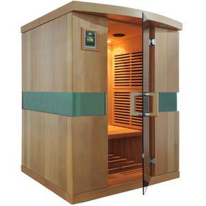 IR Bastu Quattro   Hemlock trä  För 4 personer. Professionellt bruk. Ir bastu för Spa & gym, etc