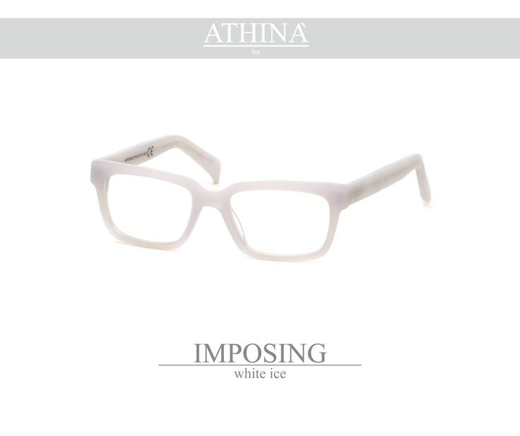 Mod. IMP0404V Spectacles totally made in top-qulity acetate of cellulose with a rectangular shape white-ice coloured.
