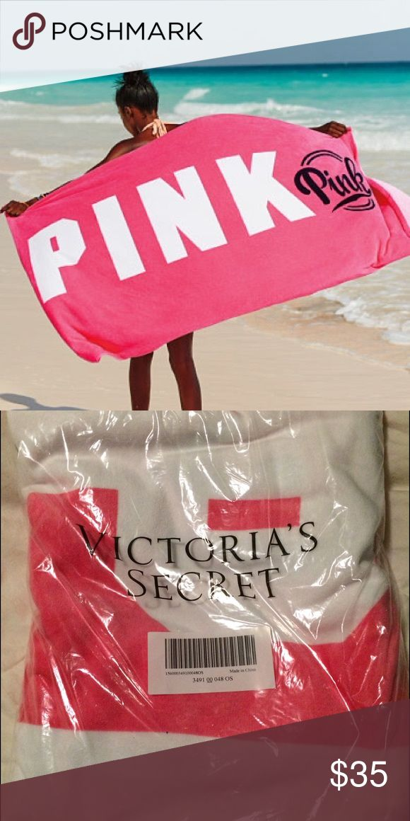 NWT PINK VICTORIAS SECRET LARGE BEACH TOWEL! NWT PINK VICTORIAS SECRET LARGE BEACH TOWEL! Limited edition. Great size and super soft! Retails at $40. NO TRADES! PINK Victoria's Secret Accessories
