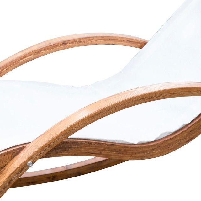 Les 25 meilleures id es de la cat gorie chaise longue bois for Chaise longue a bascule