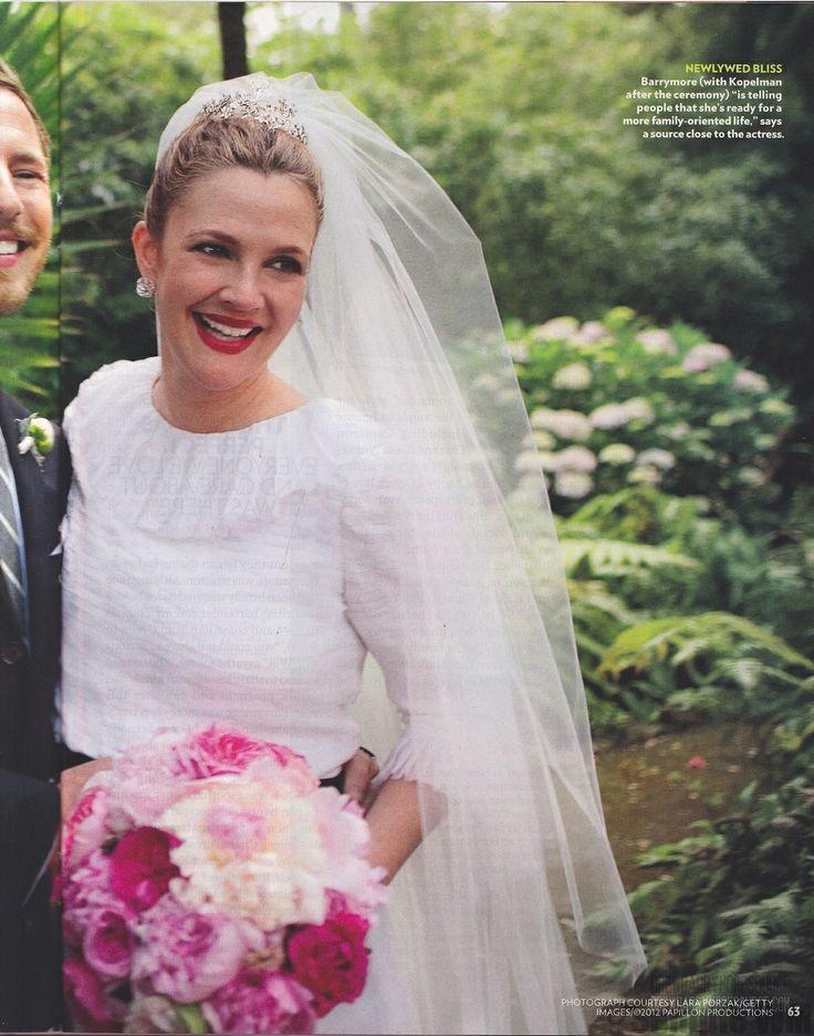Drew Barrymore wedding   Moments..   Pinterest