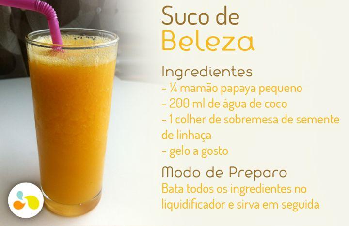 Suco de papaya com linhaça para manter a pele bonita e bronzeada! Confira essa e outras receitas aqui: https://www.facebook.com/MaisEquilibrio