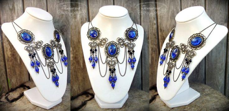 Gothic necklace http://blog.sowiarnia.pl/2013/05/gotycka-kolia/