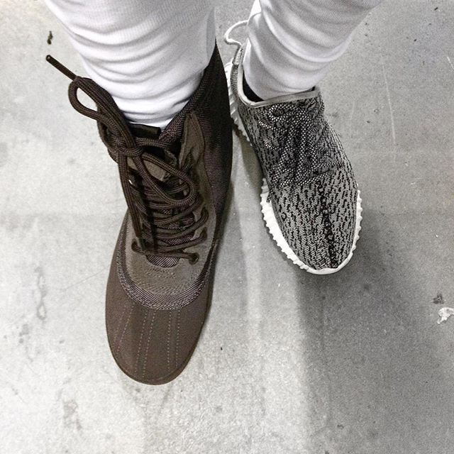 Sweet Like Chocolate.  @adidasoriginals Yeezy Duck Boot 950 / 350 Turtle Dove.  #YEEZYSEASON
