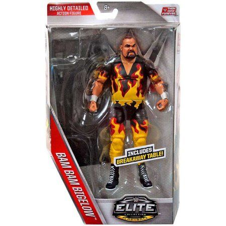 Bam Bam Bigelow Action Figure with Breakaway Table Then Now Forever, Multicolor