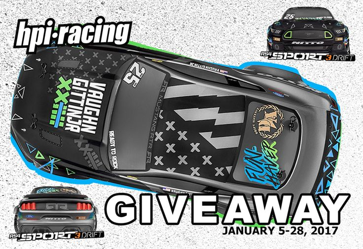 Enter for a chance to win a Vaughn Gittin Jr. Ford Mustang from HPI in the HobbyTown Vaughn Gittin Jr. Fun Haver RC Giveaway! Entries accepted from January 5, 2017 through January 28, 2017.