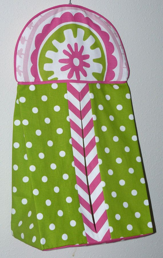 Diaper  Stacker Hot Pink  Strawberry by CustomBabyCreations