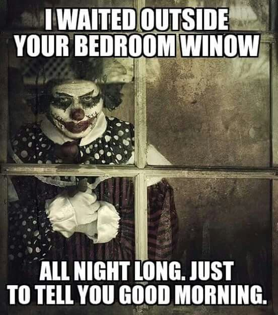 b43776be40faa2344cb8ec09eff1c396 freaky clowns creepy pics 33 best i hate clowns images on pinterest horror, clowns and