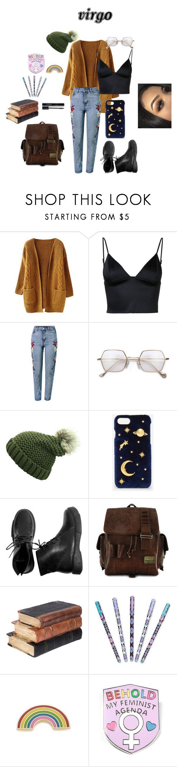 """virgo"" by punkrockwasneverdead on Polyvore featuring T By Alexander Wang, WithChic, CHARLES & KEITH, Loungefly, Vera Bradley, Georgia Perry, cute, zodiac and Virgo"