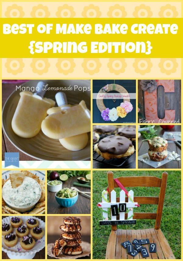 Spring Food & Craft Round Up including Mango Lemonade Popsicles & Homemade Samoa Cookies