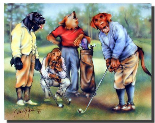 Grab this beautiful poster just what you need for your kids room decor. Definitely your child would love this poster. This poster display image of dogs playing golf, which make this poster so attractive that no one can stop them to compliment the beauty of your wall decor and goes with any decor style. Ensures high quality paper.