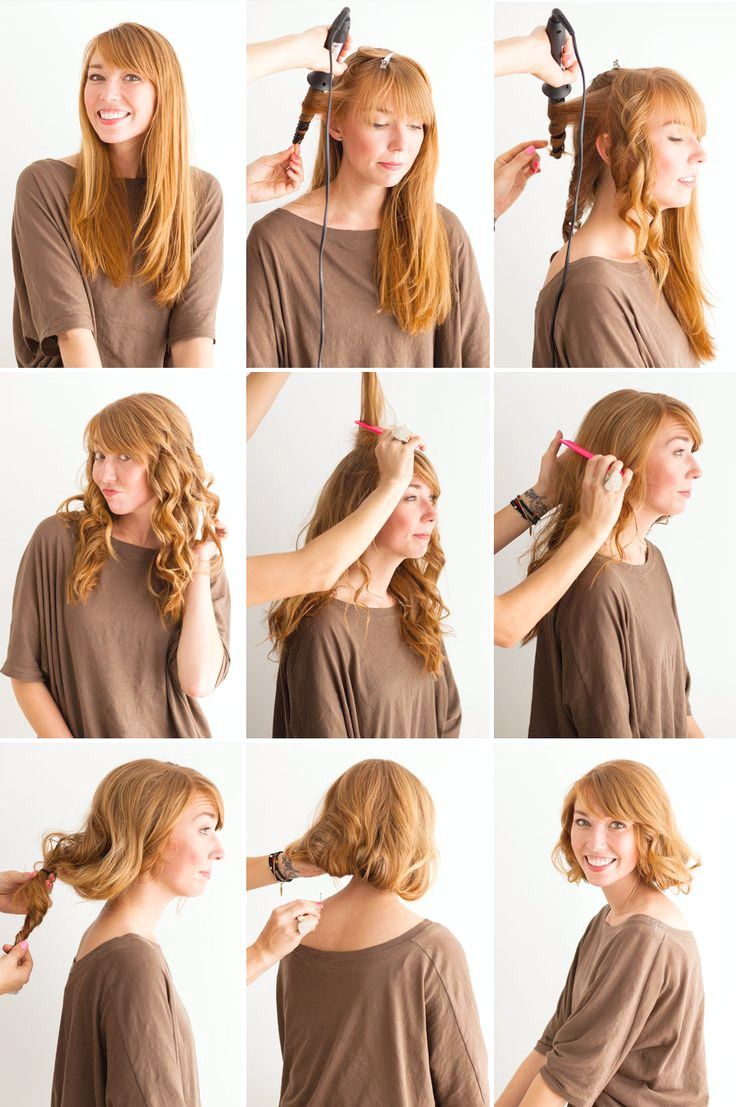 Wie man lange Haare kurz macht: Faux Bob Hair Tutorials  11er