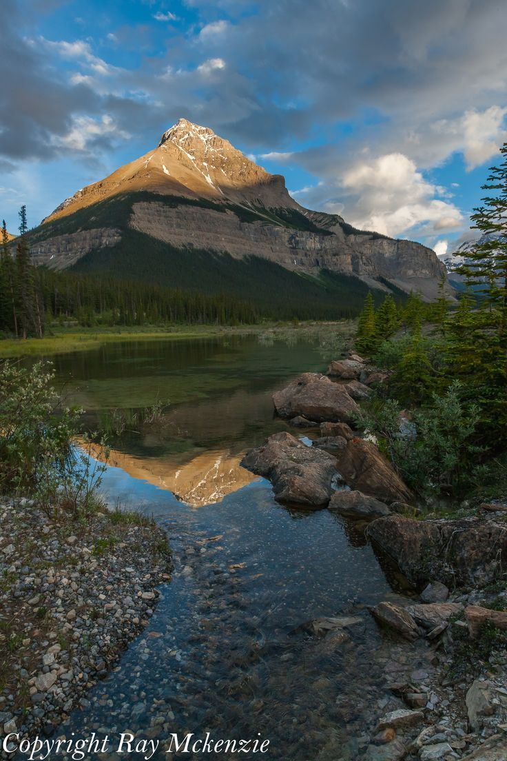 Sunset along Colombia Icefields Parkway, Alberta, Canada