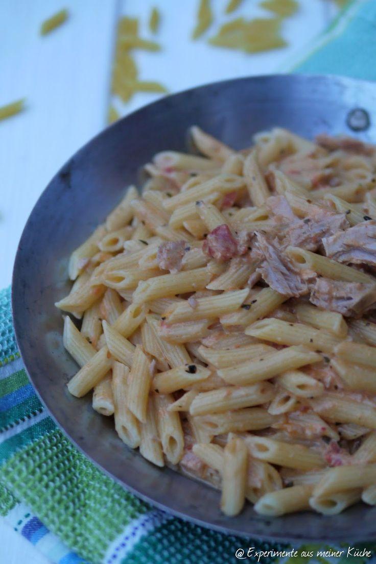 Experimente aus meiner Küche: Pasta mit cremiger Thunfisch-Tomaten-Soße