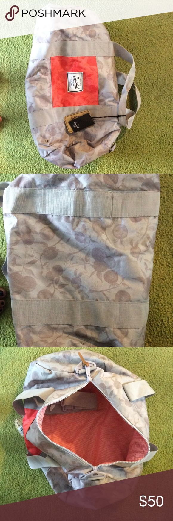 Brand new Herschel duffle bag! Beautiful print! Maybe used once some spot on bottom of bag barley noticeable shown in second photo! Great carry on size for plane!! Herschel Supply Company Bags Travel Bags