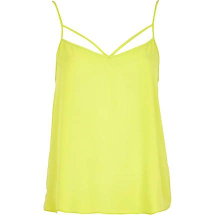 Lime strappy cami top £14.00