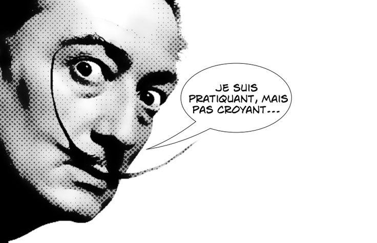 """Salvador Dali était un artsite hyper narcissique (un pléonasme). Parmi ses plus célèbres citations : """"Le surréalisme, c est moi"""""""