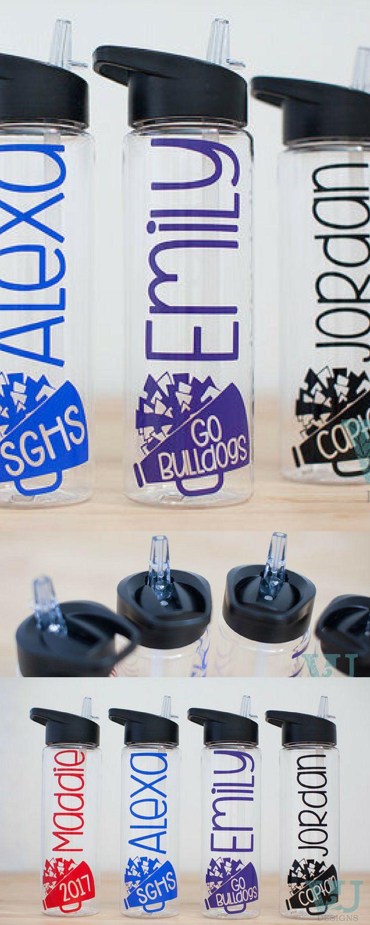 $11.99  Cheerleading Gift - Cheer Bottle - Cheerleader Gift - Personalized Bottle - Custom Water Bottle - Customized Cheer - Team Gifts - Cheerleading coach - Squad presents #cheerleading #ad
