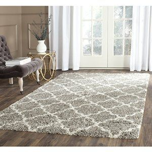 Amazon.com: Safavieh Hudson Shag Collection SGH282B Grey and Ivory Area Rug, 8 feet by 10 feet (8' x 10'): Kitchen & Dining $282.52