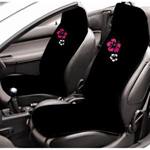 2 couvre-sièges éponge noir avec Hibiscus - Achat / Vente HOUSSE DE SIÈGE 2 COUVRE-SIEGES NOIR IBISCUS - Cdiscount