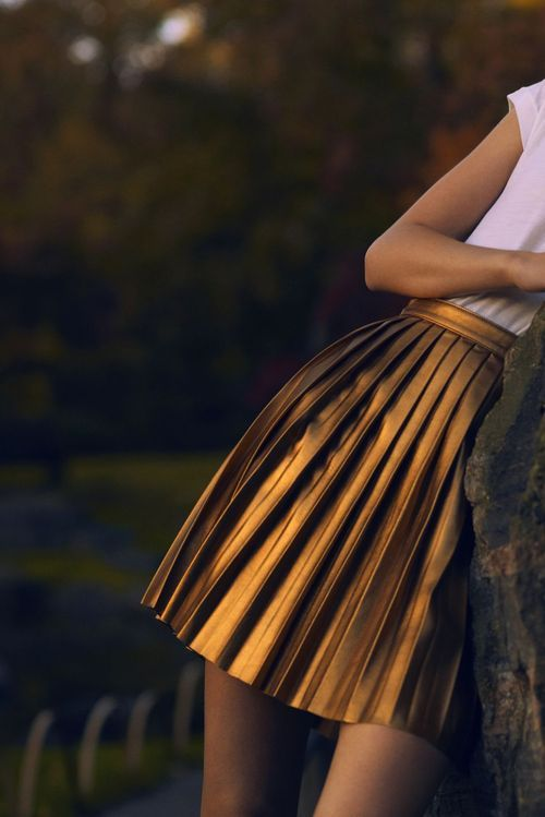 La Forêt Enchantée| Frida Aasen by Sean & Seng for Numéro December 2011. Craving that Gucci gold pleated skirt. Might go for a similar bebe one: http://tinyurl.com/9n55s3c
