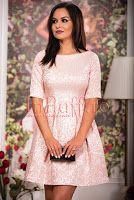 Rochie roz pal brocard