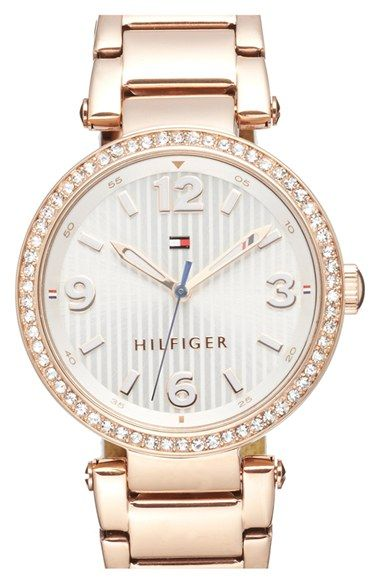 Tommy Hilfiger Crystal Bezel Bracelet Watch, 32mm
