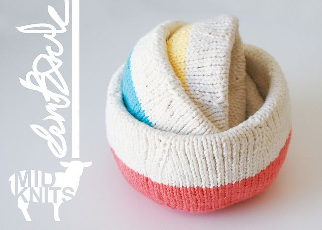 Ravelry: Color Blocked Nesting Bowls (2015009) pattern by Erin Black