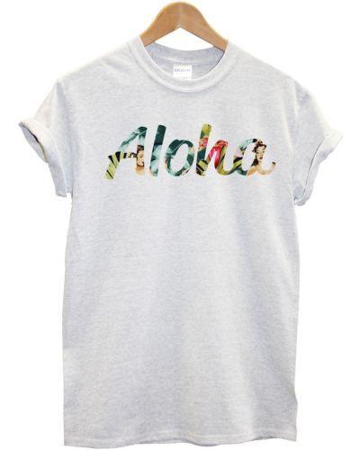 cb784090e Aloha Pin Up Girl Print T Shirt Hawaii Hawaiian Hula Hipster Summer Women  Men   T-Shirts   Men's Clothing - Zeppy.io