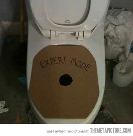 HAHAHAHA I need to make this for JimBoys Bathroom, Expert Mode, Videos Games, The Challenges, April Fools Day, Toilets, Funny, Challenge Accepted, Challenges Accepted
